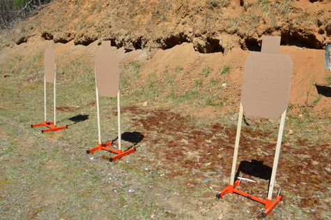 Ashe County Wildlife Club gun range with Wyatt Earp Target Stands