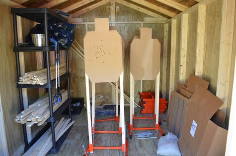 Storage shed at Ashe County Wildlife Club used to hold Target Meister Wyatt Earp stands and range equipment