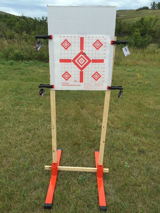 Terry Brack's Dirty Harry Target Stand setup on Minot, ND gun range