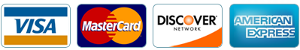 Pay with VISA, MasterCard, DISCOVER, AMEX