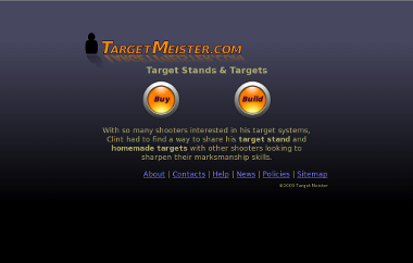 Original version of the Target Meister home page