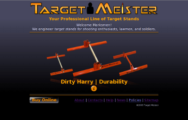 Second version of the Target Meister home page