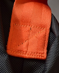 heavy-duty stitching on the strap